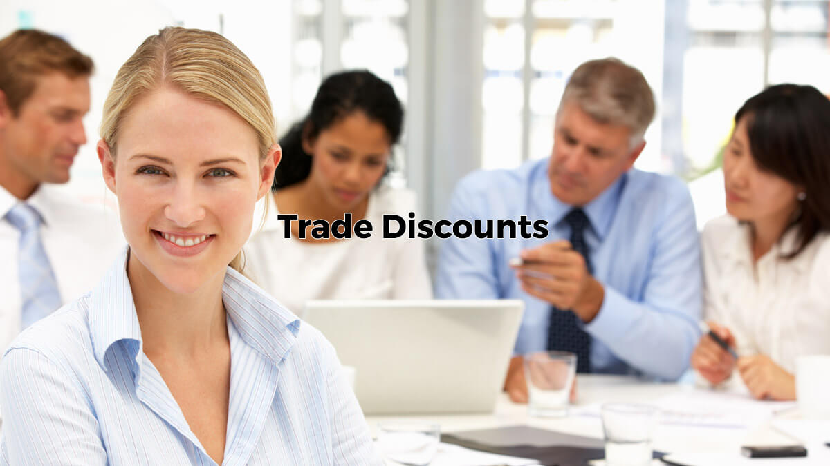 Get yout tradediscounts